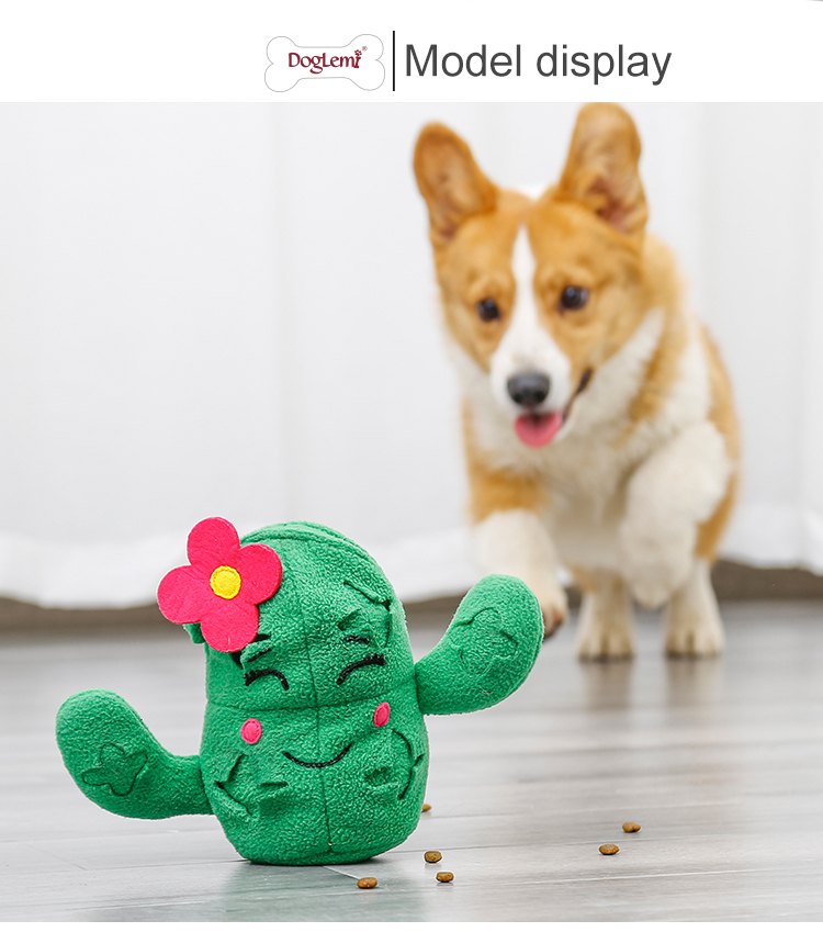 3 in 1 Cactus designer plush squeaky dog toys ,dog toys eco friendly plush with Pineapple Ball