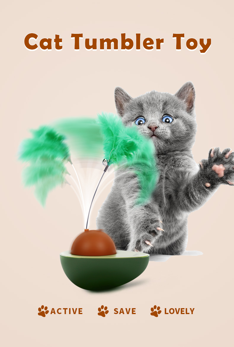 AVOCADO design tumbler high quality cat electric toy interactive