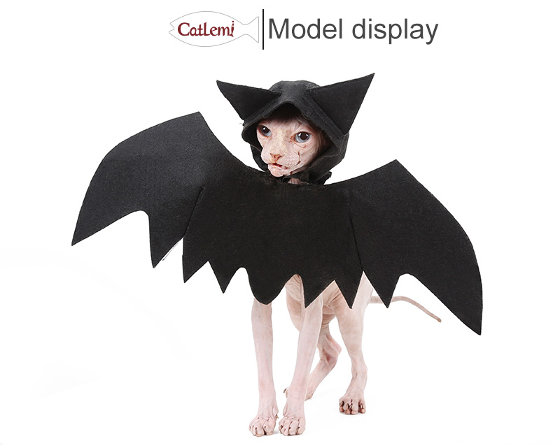 Party wig halloween cat wings cosplay party dress,bat halloween costume for cat