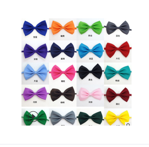 Wholesale Dog Bow Tie Various Colors Plain Bow Tie Collar for Pets and Dogs