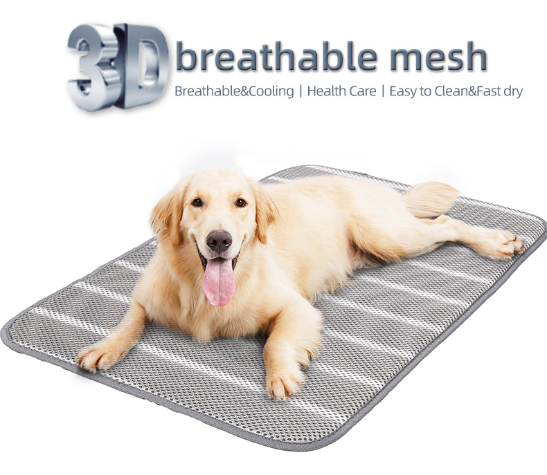 Health breathable and cooling bed mats dog ,Anti slip bottom pet travel mat dog
