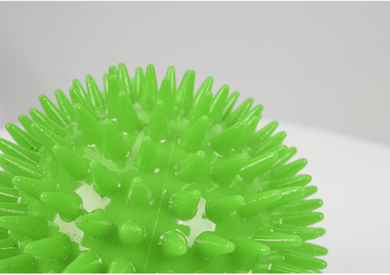 Brush squeaky dog chew ball toy ,TPR dog rubber chew toy ball