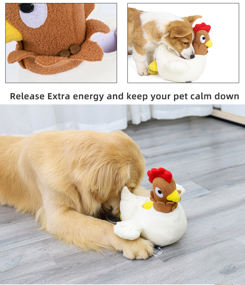 Chicken lay eggs squeaky IQ training toy dog ,Snuffle funny dog toy