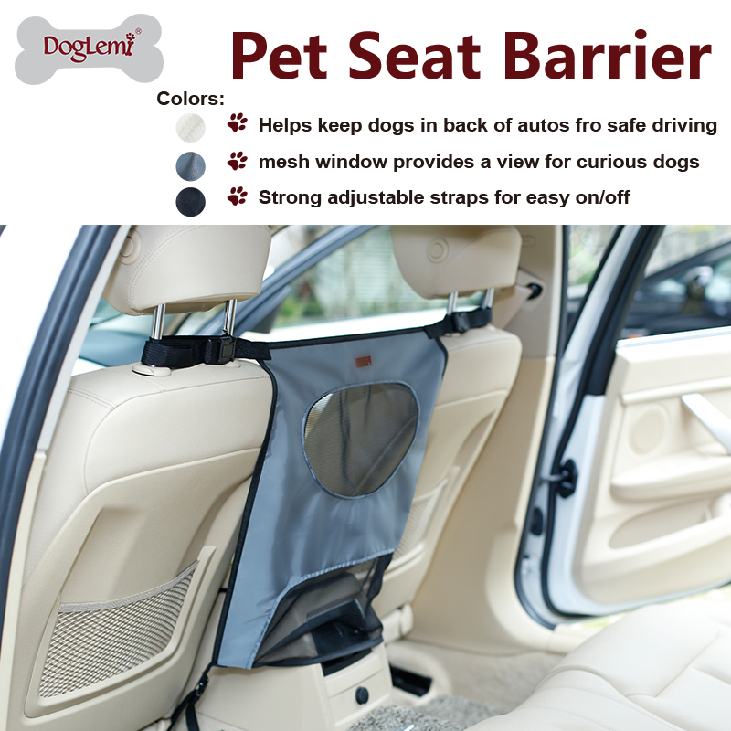 Dog Car Backseat Pet Barrier between front two seats