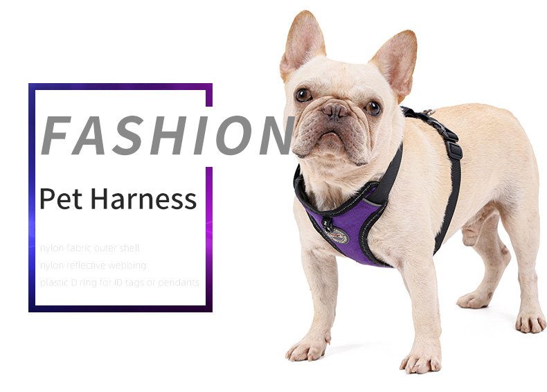 Pet Dog Harness No-Pull Reflective Easy Control Soft Walking Harness with leash