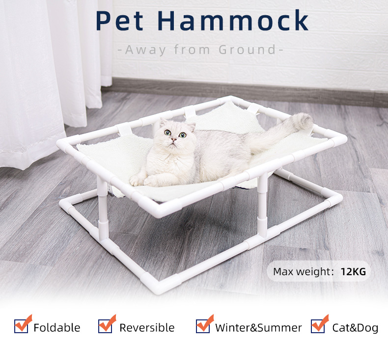 Raised cots pet hammock bed reversible ,elevated pet dog cat cots bed