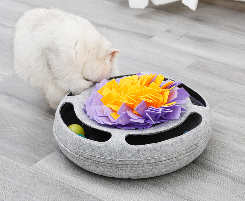 Interactive cat play circle track moving balls cat toys ,IQ Training cat puzzle toys