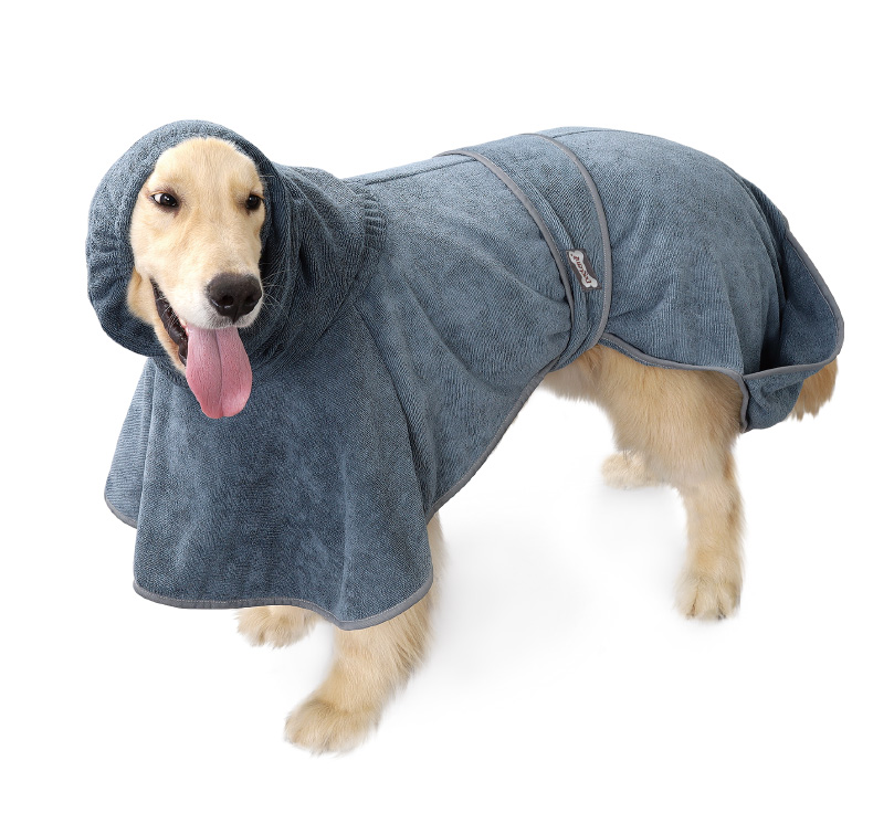 Super absorbent pet dog cleaning towel hoodie clothes ,drying microfiber pet towel