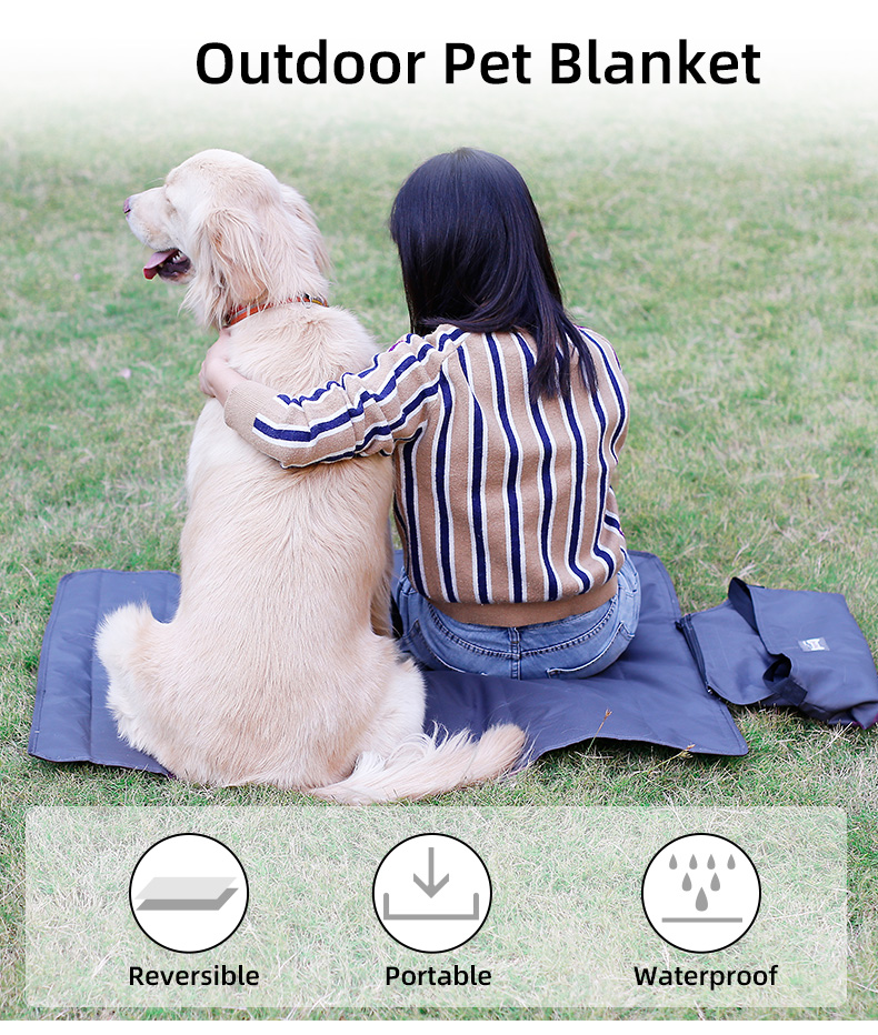 Outdoor Portable Roll in Pet Blanket with Bag,Travel dog mat blanket