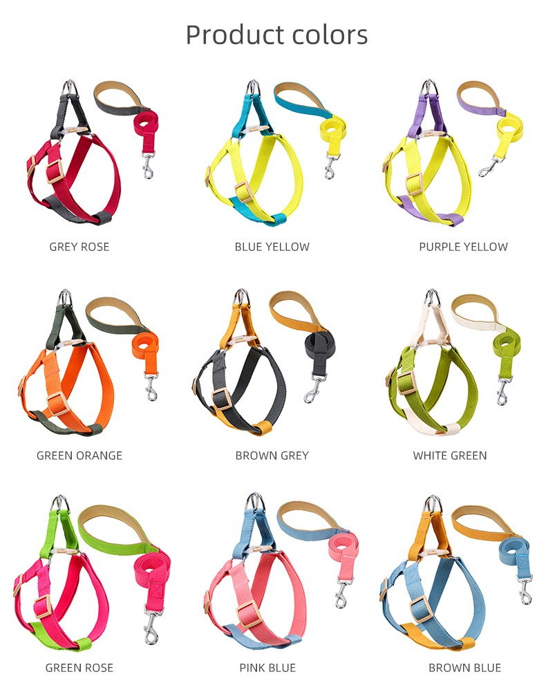 Ombre Colors french bulldog harness ,fashion dog harness step in