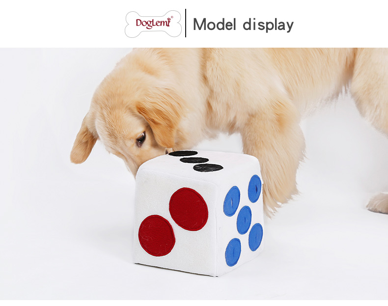 Dice Design Luxury Pet Snuffle Training Toys Smart Durable Chew Dog Toy