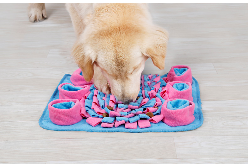 Eco Friendly Soft Fleece Outer Pet Snuffle Mat Colorful Dog Training Mat