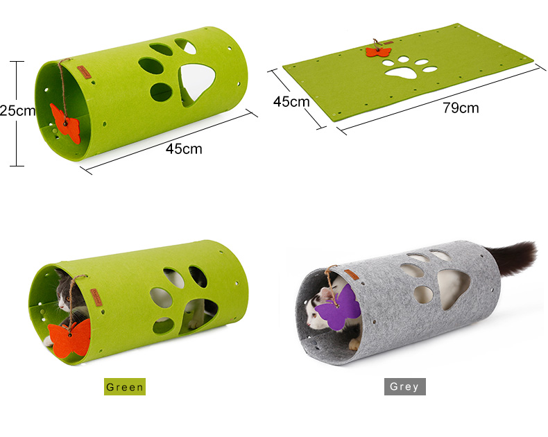 Wholesale Pet Toy Cat Tunnel With Butterfly Toy Collapsible Portable Cat Toy Tunnel