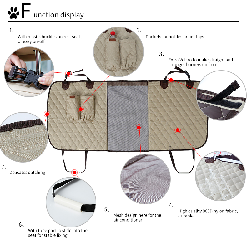 Pet Car Seat Fence Safety Barrier