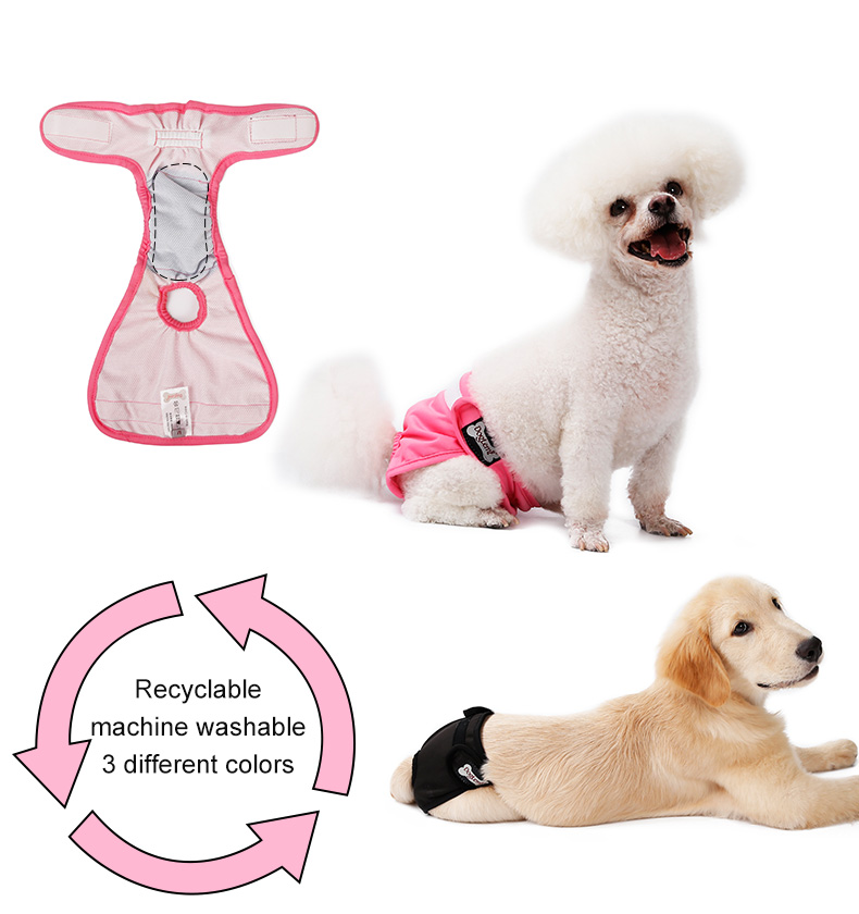 Soft Comfort Waterproof Female Dog Diapers Washable Reusable Dog Diaper