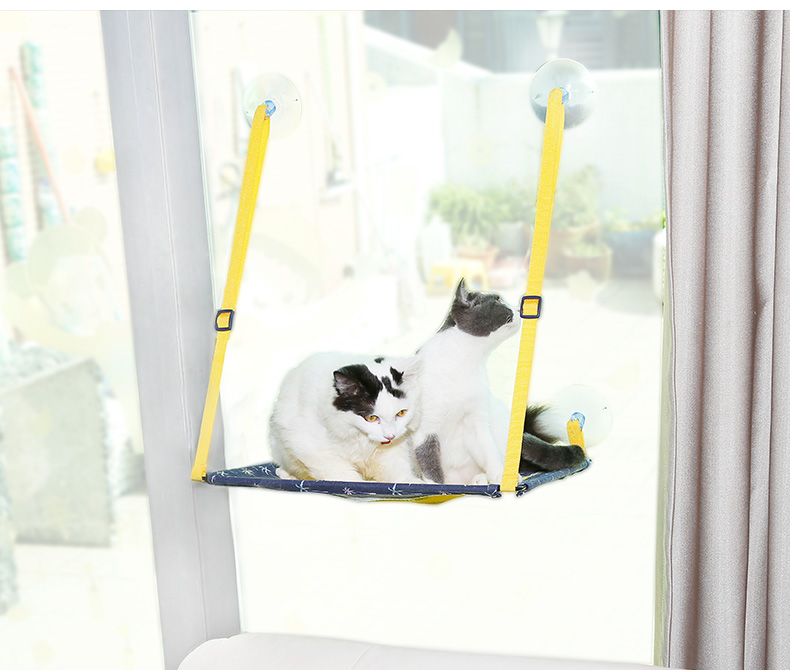 Cat Window Perch Hammock Cat Bed Kitty Window Bed Seat Mount Portable Bed Suction Cup