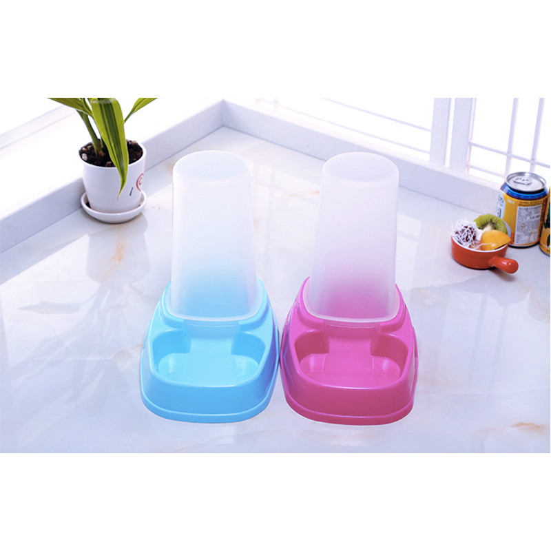Pet Water Feeder Fountain Automatic Dog Cat Water Food Dispenser Bowl