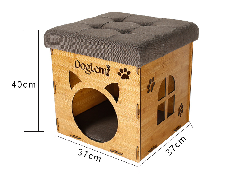 Folding House Chair Cat Condo Cave Bed Natural Indoor Cozy Pet Cat Cave