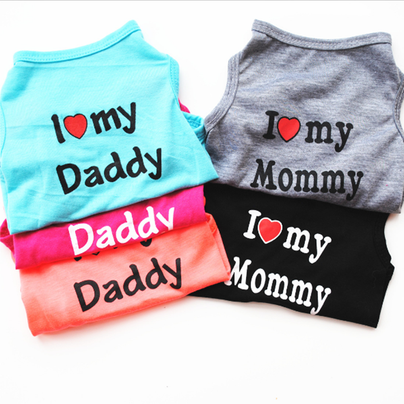 Dog Shirt Summer Clothes for Pet Puppy Tee shirts Dogs Costumes Cat Tank Top Vest