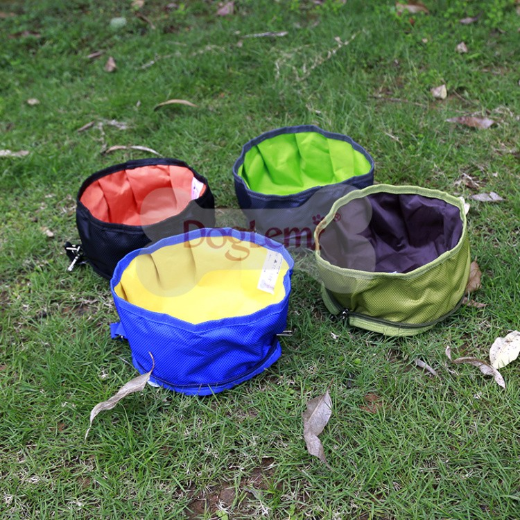 Travel Outdoor Portable Pet Dog Water Bowl Waterproof Collapsible Dog Bowl