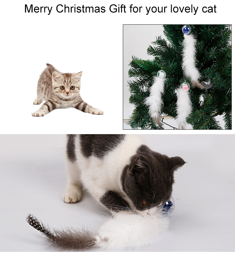Nature Feature Cat Products Pet Teaser Toys Merry Christmas Cat Toy