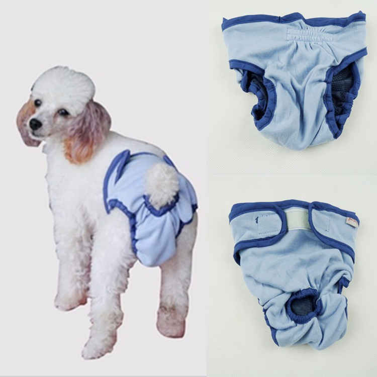 Washable Soft Dog Diapers Cover Ups Sanitary Dog clothes for XS to XL Extra Large Dogs pants
