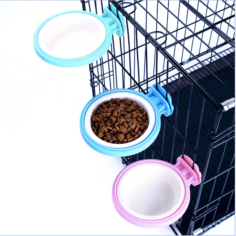Cage Feeder Bowl For Small Pet Food Water Feeder Bowl Dish With Bolt Holder For Pet Dog Cat Bird