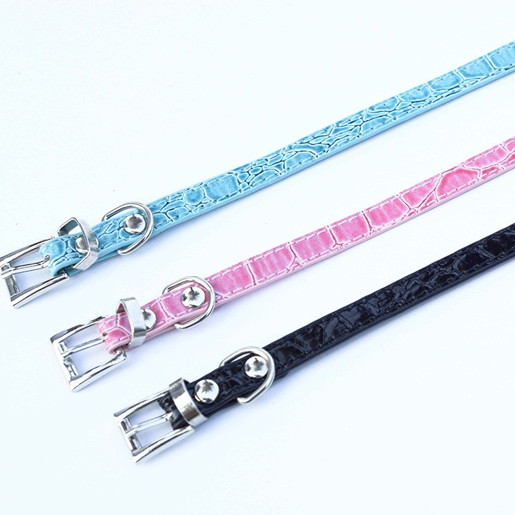 Alloy Buckle 10MM Croc PU Leather DIY Letters Personalized Slide Pet Collars(Price Exclude Slide Charms)