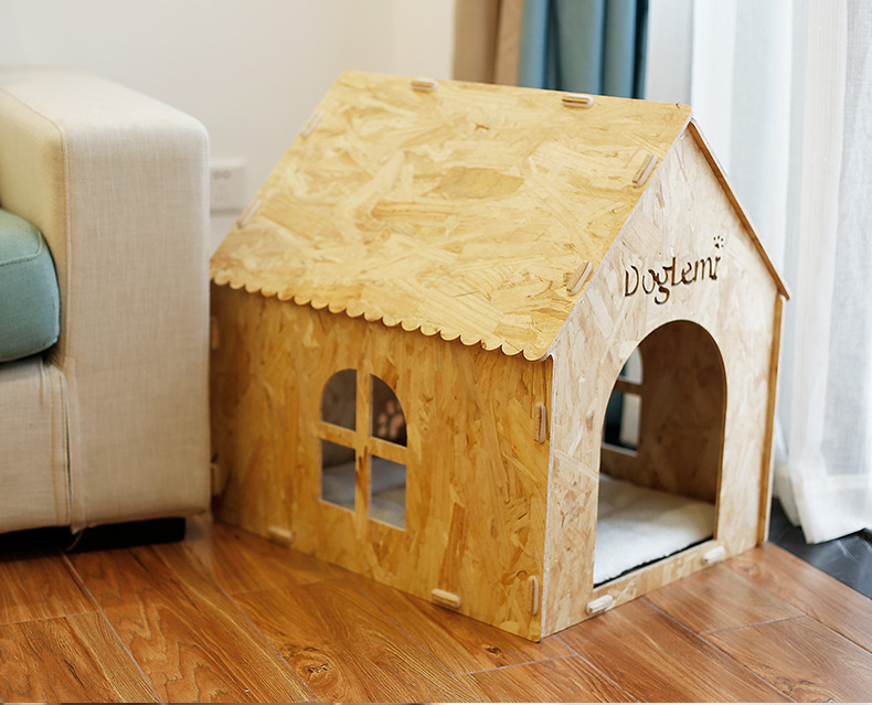 Eco friendly Pet House Nature Wooden Dog Cat House Cave Bed
