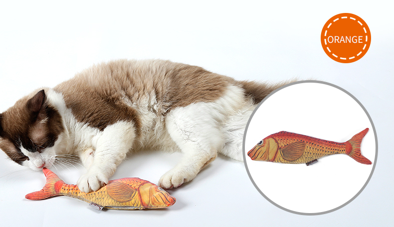 Refilling Catnip Toys Simulation Plush Fish Cat Toys Interactive Chewing Toys For Cat