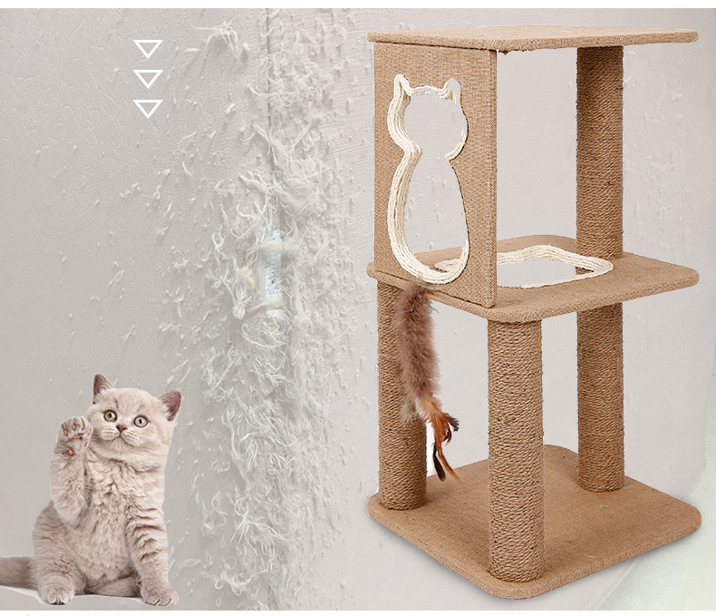 Nature Wood Cat Furniture Cat Playing Scratching Tree