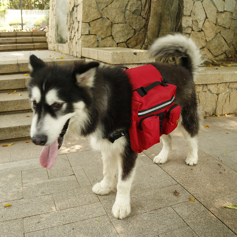 Medium and large big hiking dog bags for camping ,Deluxe big dog backpack saddle bags