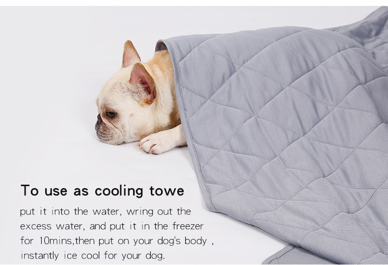 Reversible Large Size Cool Touch Dog Bed Blanket Summer Nylon Pet Cooling Mat Pad