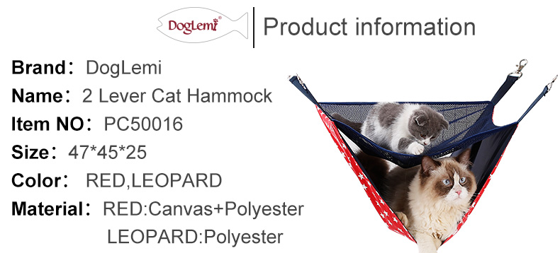 DogLemi New Product 2 Story Level Cat Hammock Cage Hanging Bedding Movable Cat Hammock Bed