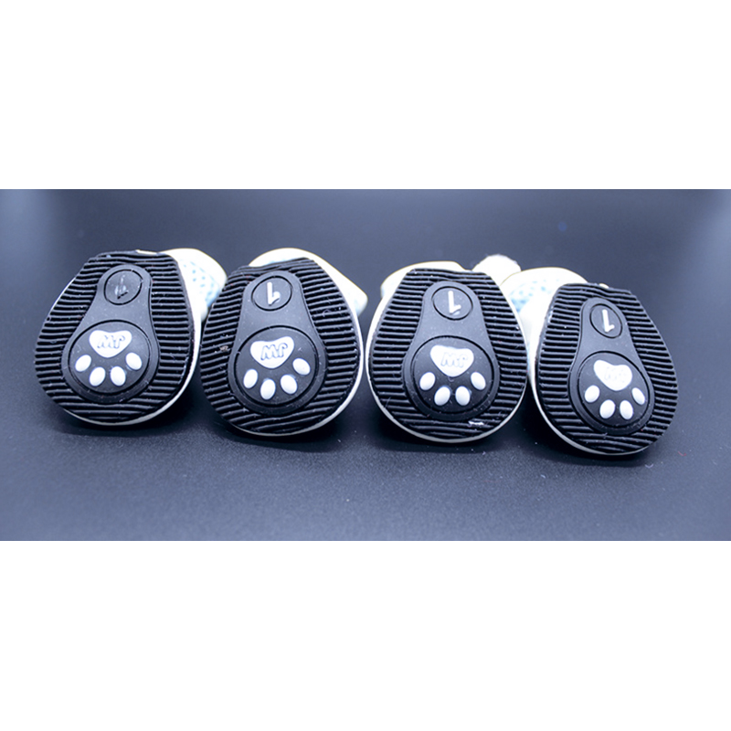 Nonslip Rubber Sole Yorkie Puppy Dog Winter Mesh Shoes Boots 4pcs Per Pair