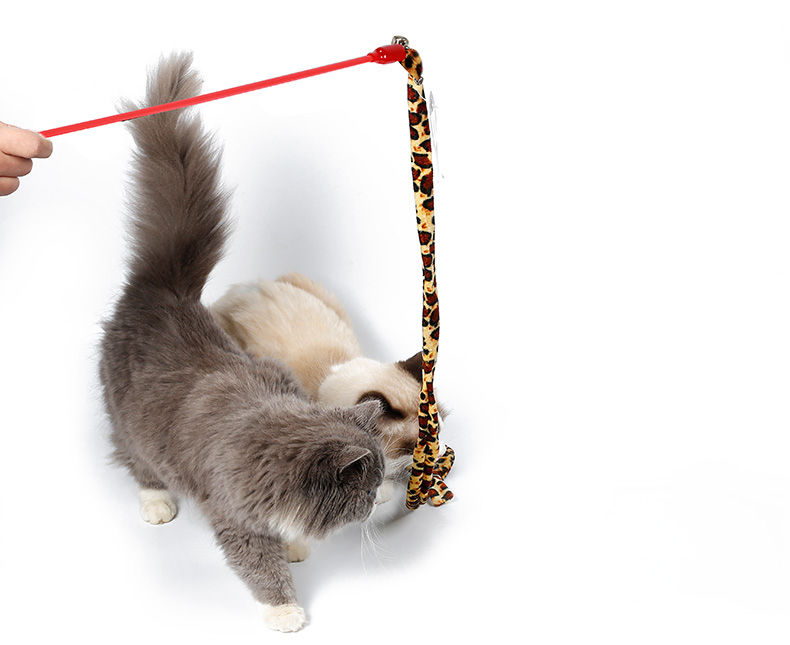 1M Cat Fishing Toy PVC Pet Cat Teaser With Bell