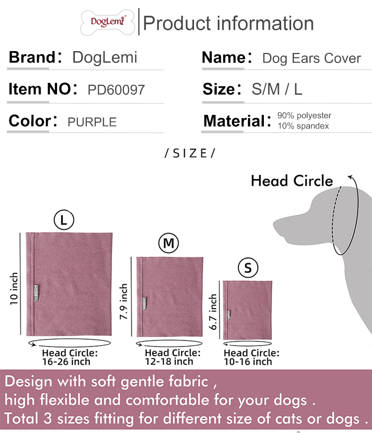 Pet noise hoodie for anxiety relief and noise ,Calming dog cat ears cover hoodie grooming