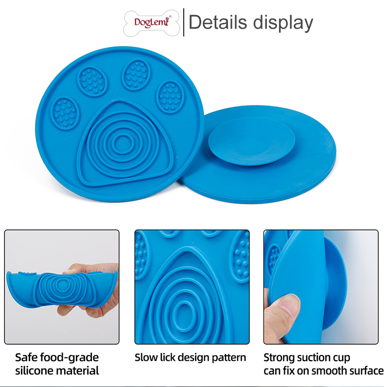 Manufacture supply silicone lickmat slow feeder dog mat ,pet lick mat  pad for dogs