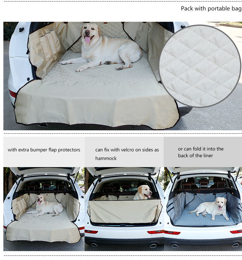 Waterproof SUV Dog Cargo Liner Outdoor Travel Safety Pet Car Seat Cover Dog