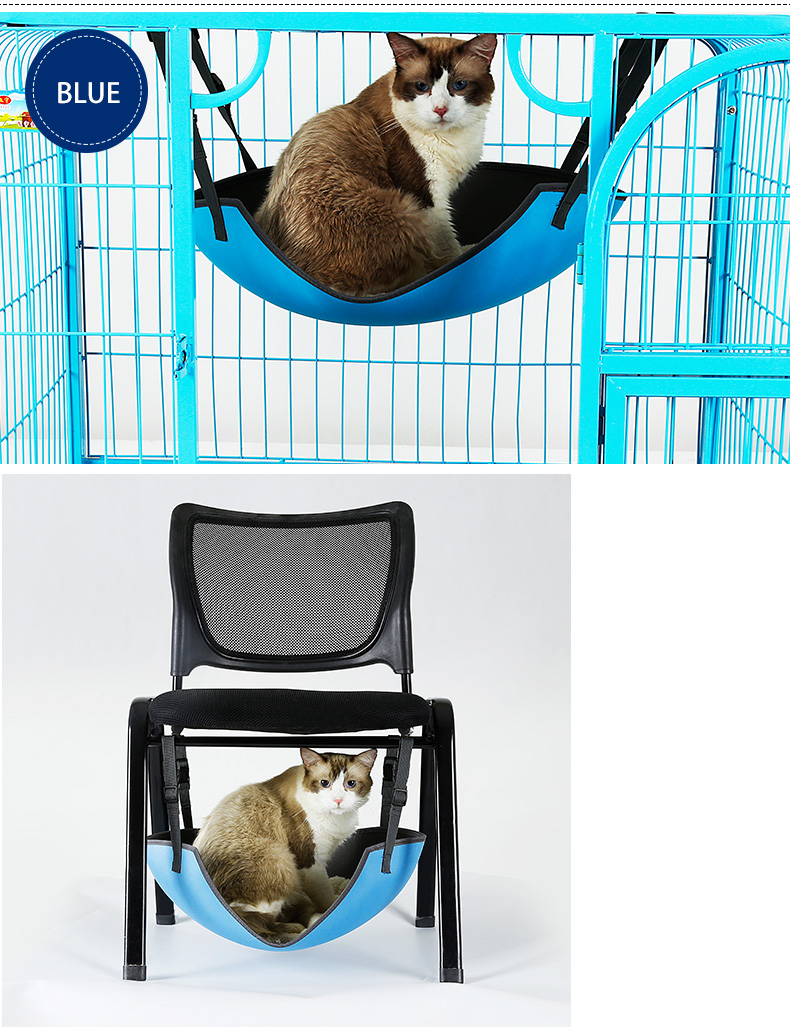 Cat hanging bed hammock new product in cage or chair ,Oval shape pet cage hammock