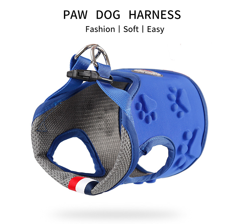 Breathable pet service dog harness ,Comfortable life vest dog harness with leash