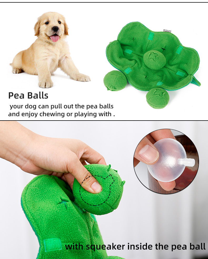 Wholesale plush squeaky pet toy ,Snuffle pet toy interactive iq training