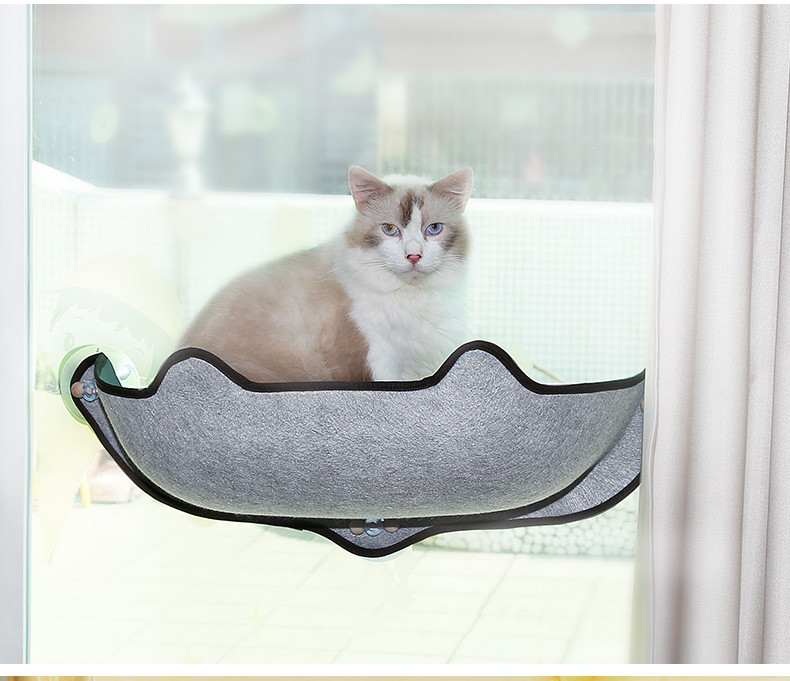 Cat Window Hammock Bed Warm Mounted Pet Bed Cats Window  Lounger Suction Cup